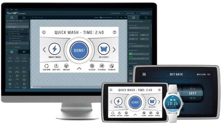 TouchGFX GUI gets update with Cacheable Containers from STMicroelectronics