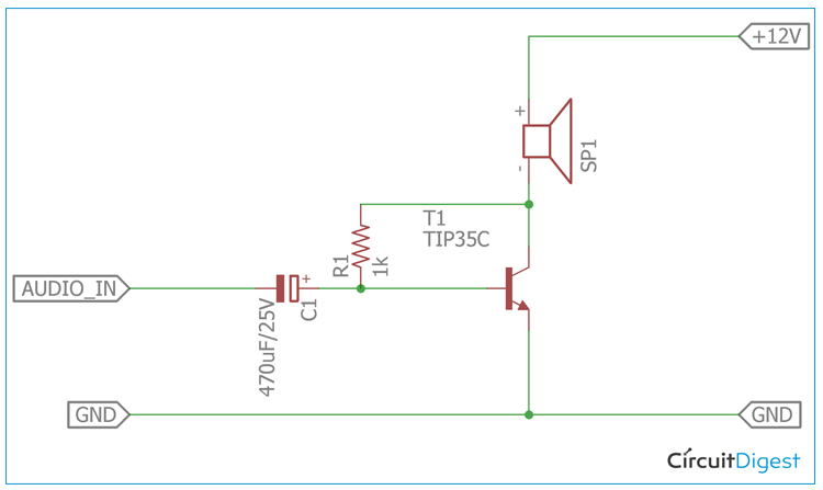 12V Audio Power Amplifier Circuit Diagram