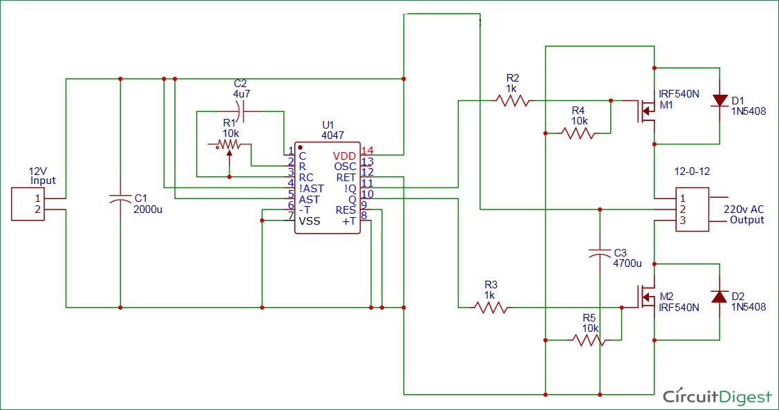 6v 8211 12v Simple Inverter Circuit Diagram
