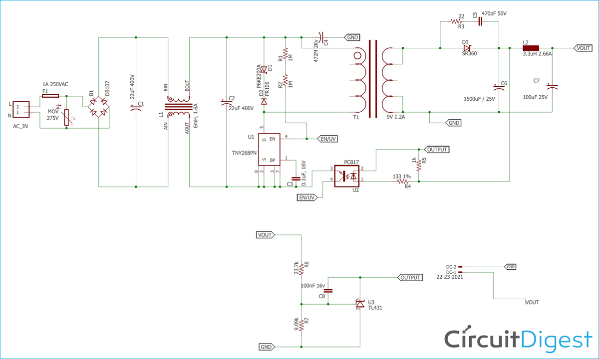 12V 1A SMPS Power Supply Circuit Design on PCB Variac Wiring Diagram Sd Control on
