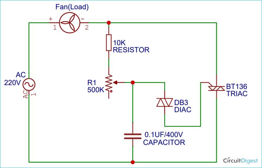 AC Fan Regulator Circuit Diagram