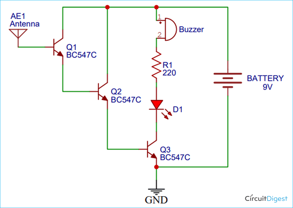 Live Wire Detector Circuit Diagram