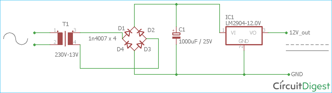 AC to DC Converter Circuit DiagramCircuit Digest