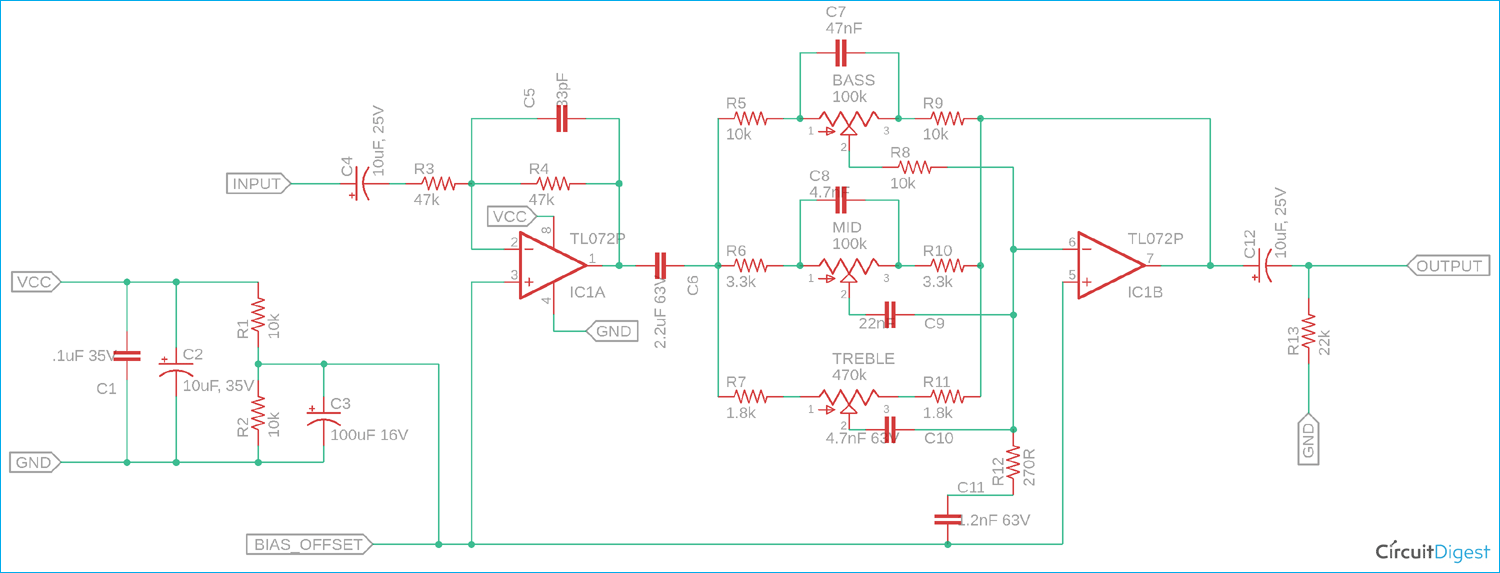 Bass Treble Circuit Diagram