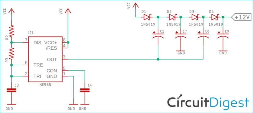 Charge Pump Booster Circuit Diagram