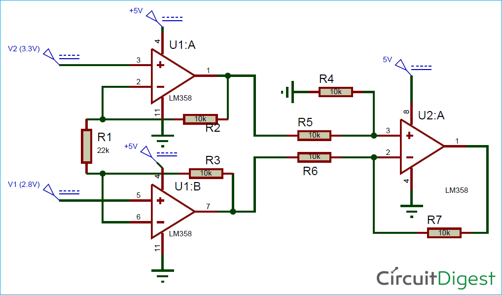 Superb Instrumentation Amplifier Circuit Diagram Using Op Amp Wiring 101 Capemaxxcnl