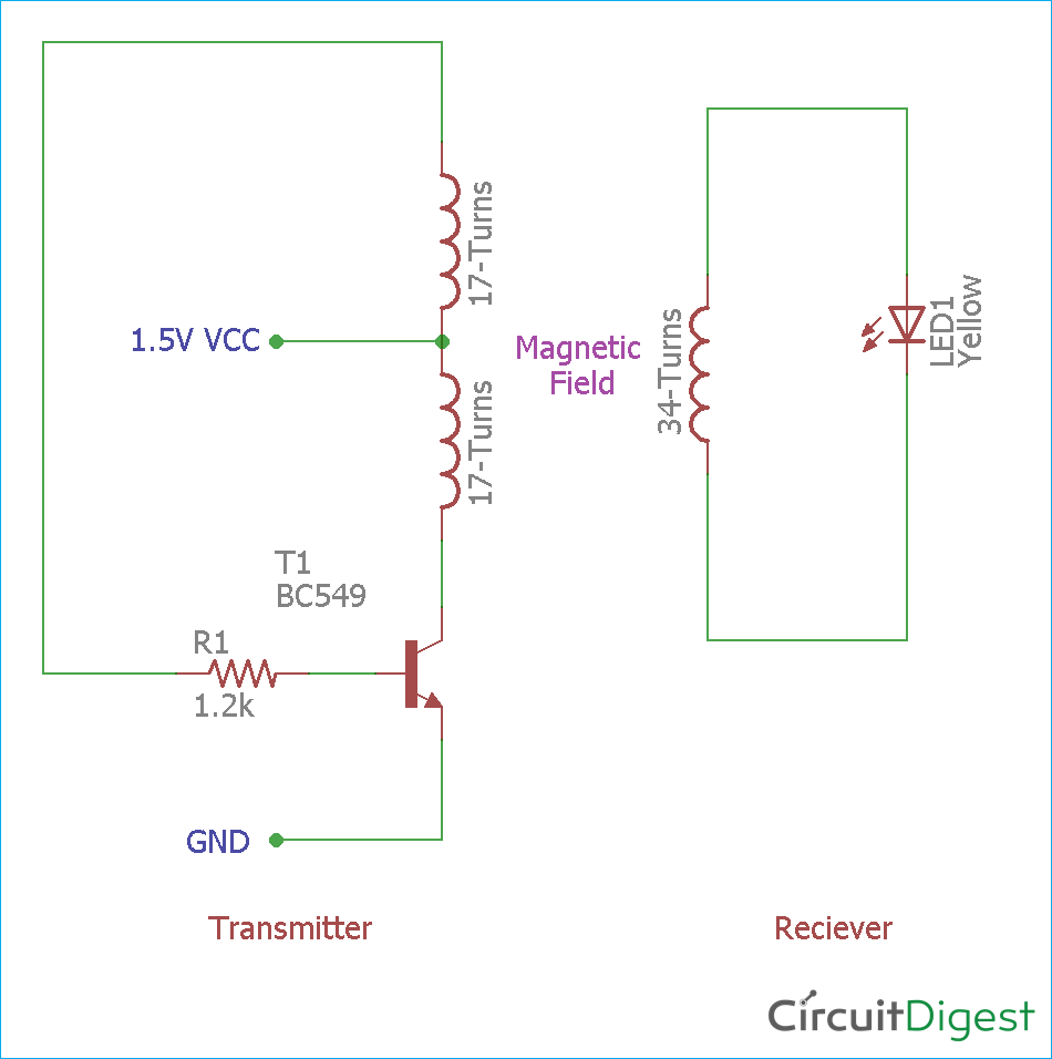 Simple Wireless Power Transmission Circuit Diagram