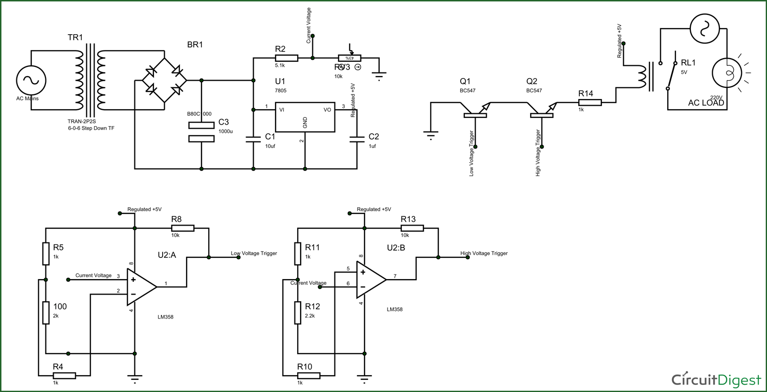 electronic circuit breaker schematic diagram rh circuitdigest com electronic circuit schematic diagrams electronic circuit schematic drawing tool
