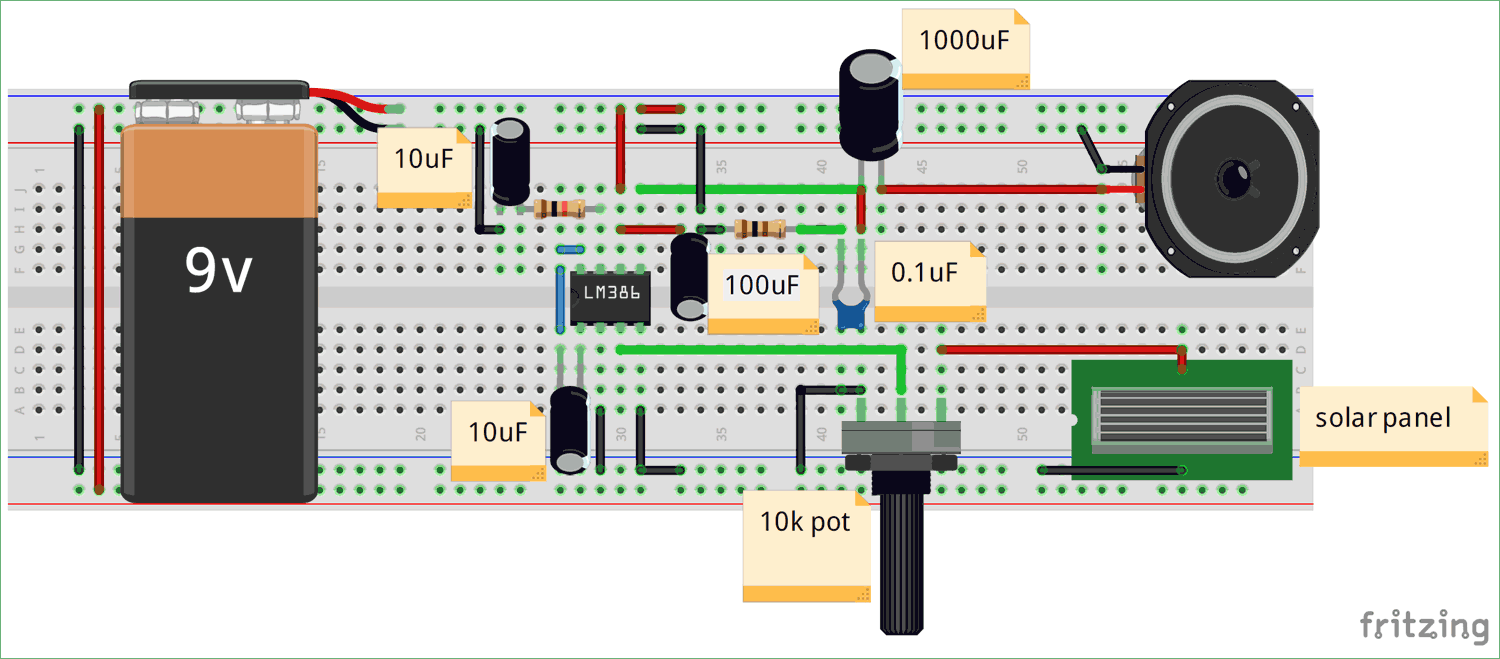 Circuit diagram for Audio transfer using LED and Li-Fi Technology