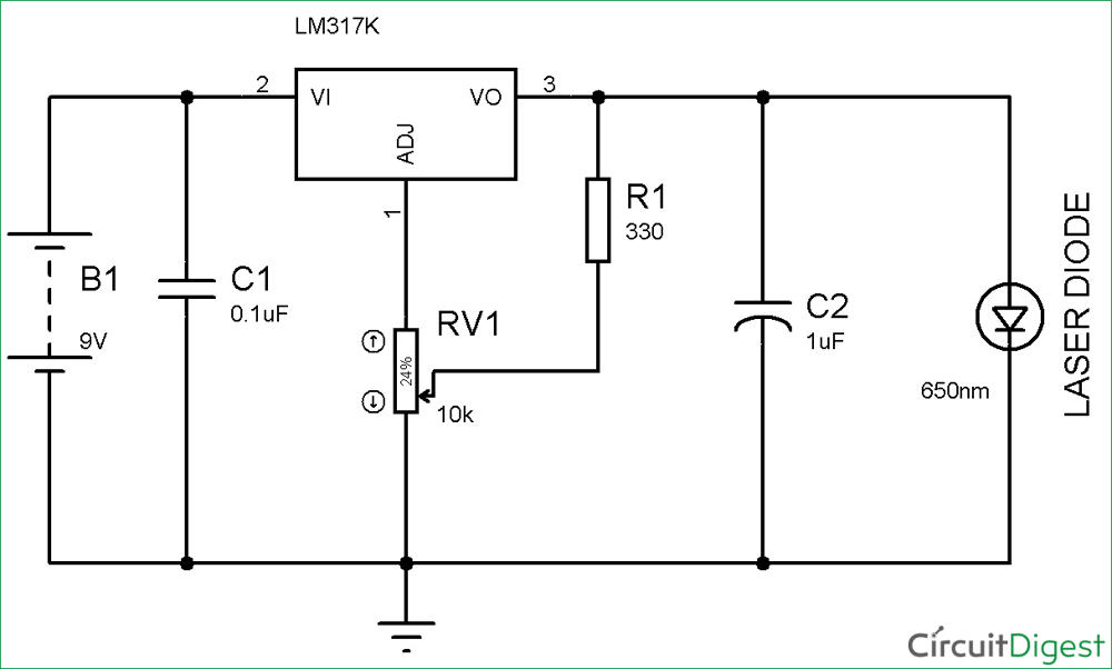 laser diode driver circuit diagram rh circuitdigest com laser burner circuit diagram laser spy microphone circuit diagram