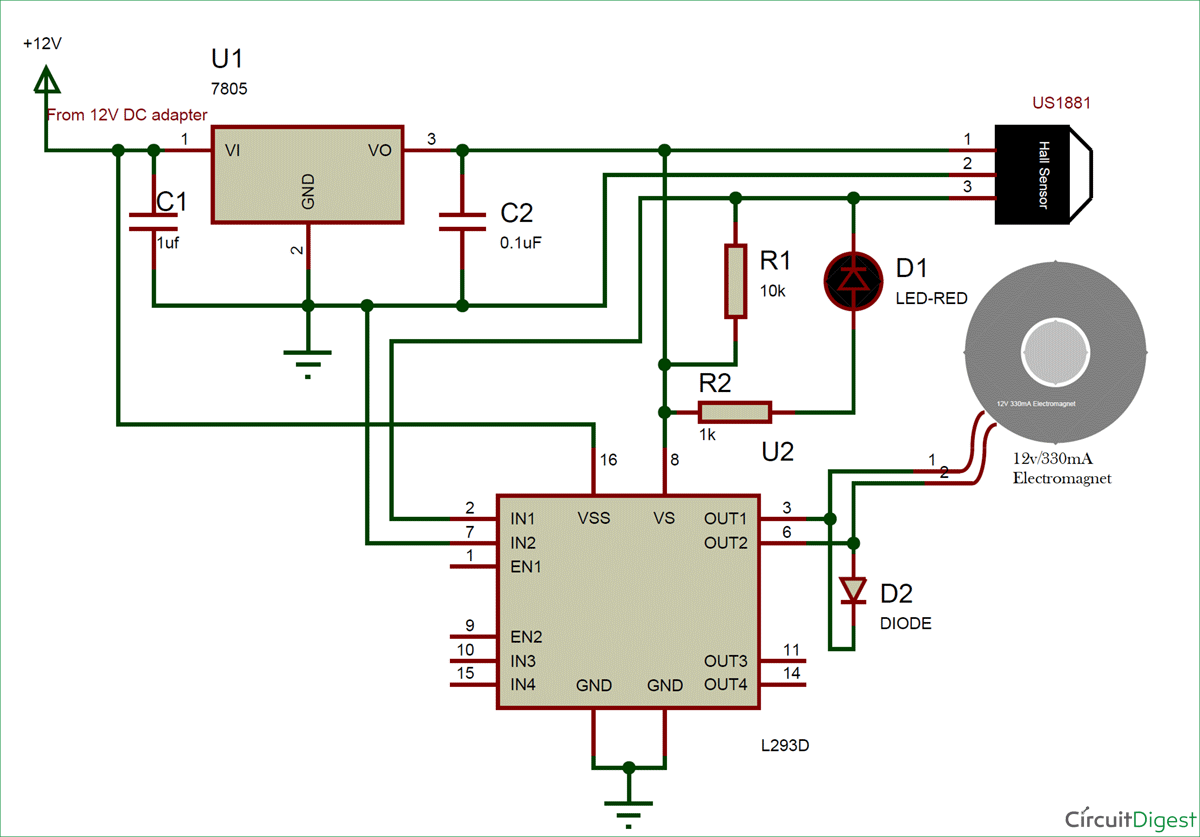 DIY Brushless Motor Using Fidget Spinner circuit diagram