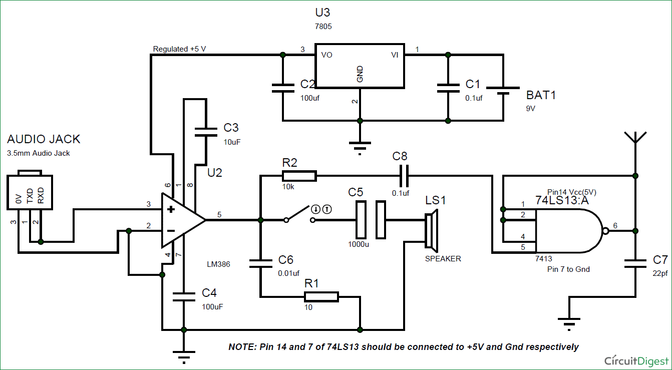 diy simple fm transmitter circuit without inductor and trimmer rh circuitdigest com Light Bulb Circuit Diagram AC Circuit Diagram