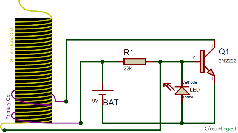DIY mini tesla coil circuit diagram 9v