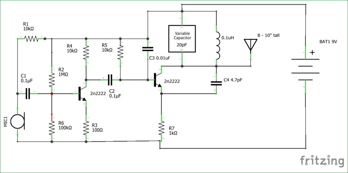 [SCHEMATICS_43NM]  How to Build FM Transmitter Circuit | Wiring Diagram For Transmitter |  | Circuit Digest