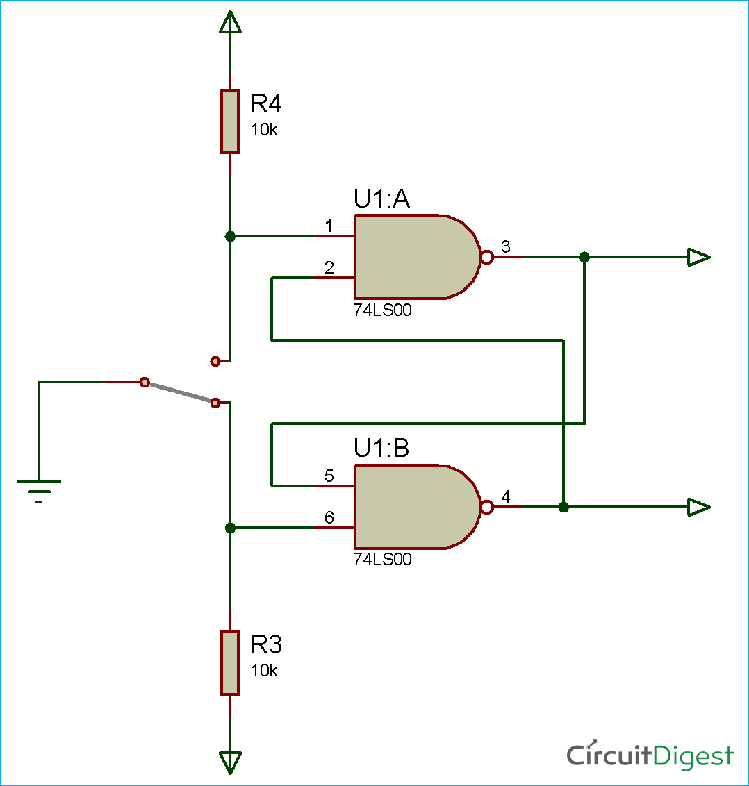 Hardware Switch Debouncing Circuit Diagram