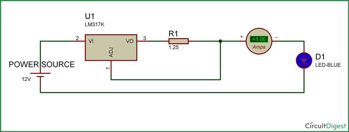 1w led driver circuit diagram rh circuitdigest com led light driver circuit diagram led driver circuit diagram pdf