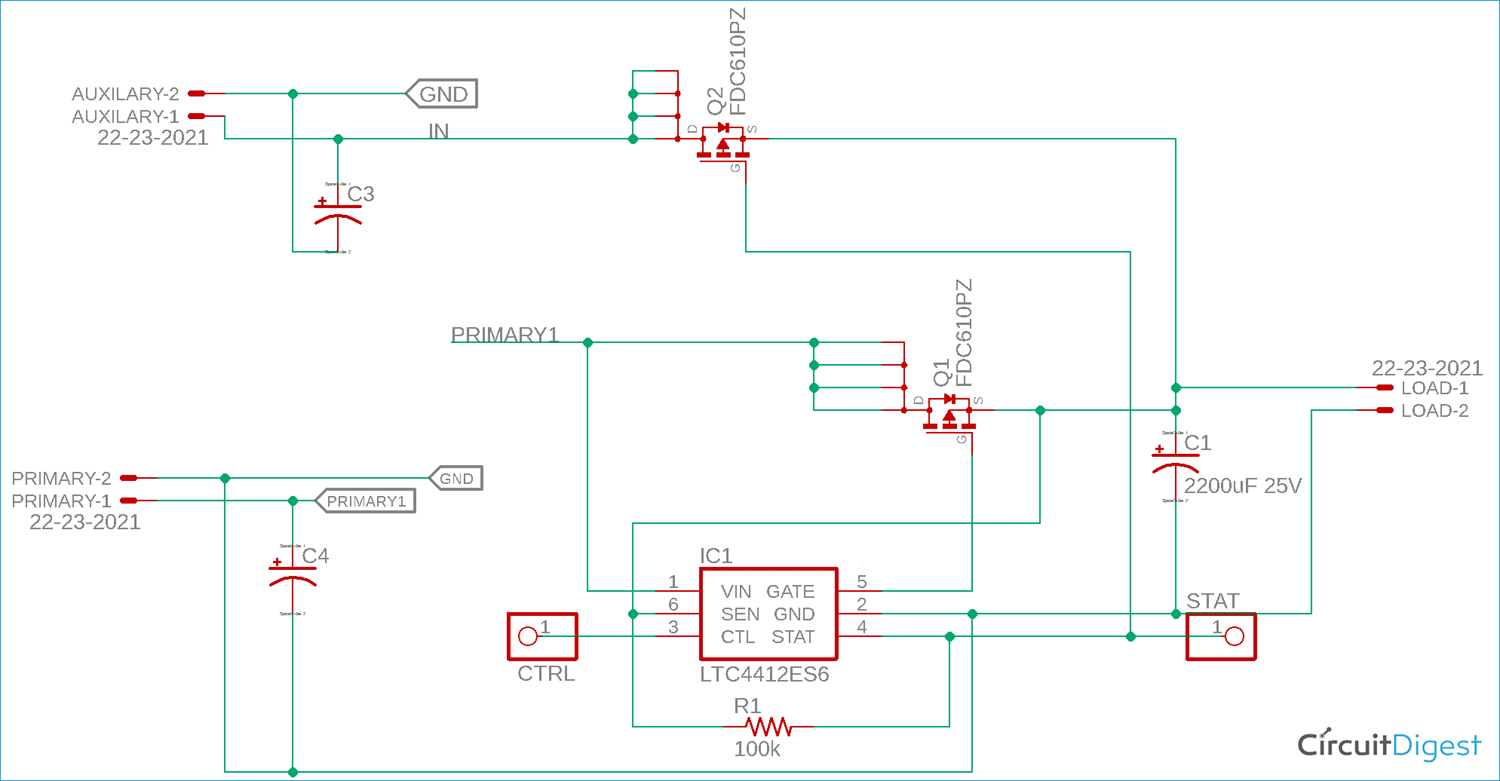 LTC4412 Power Path Controller Circuit Diagram