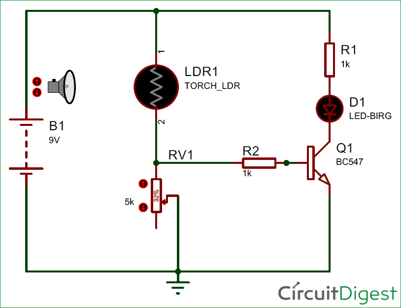 Simple LDR Circuit to Detect Light