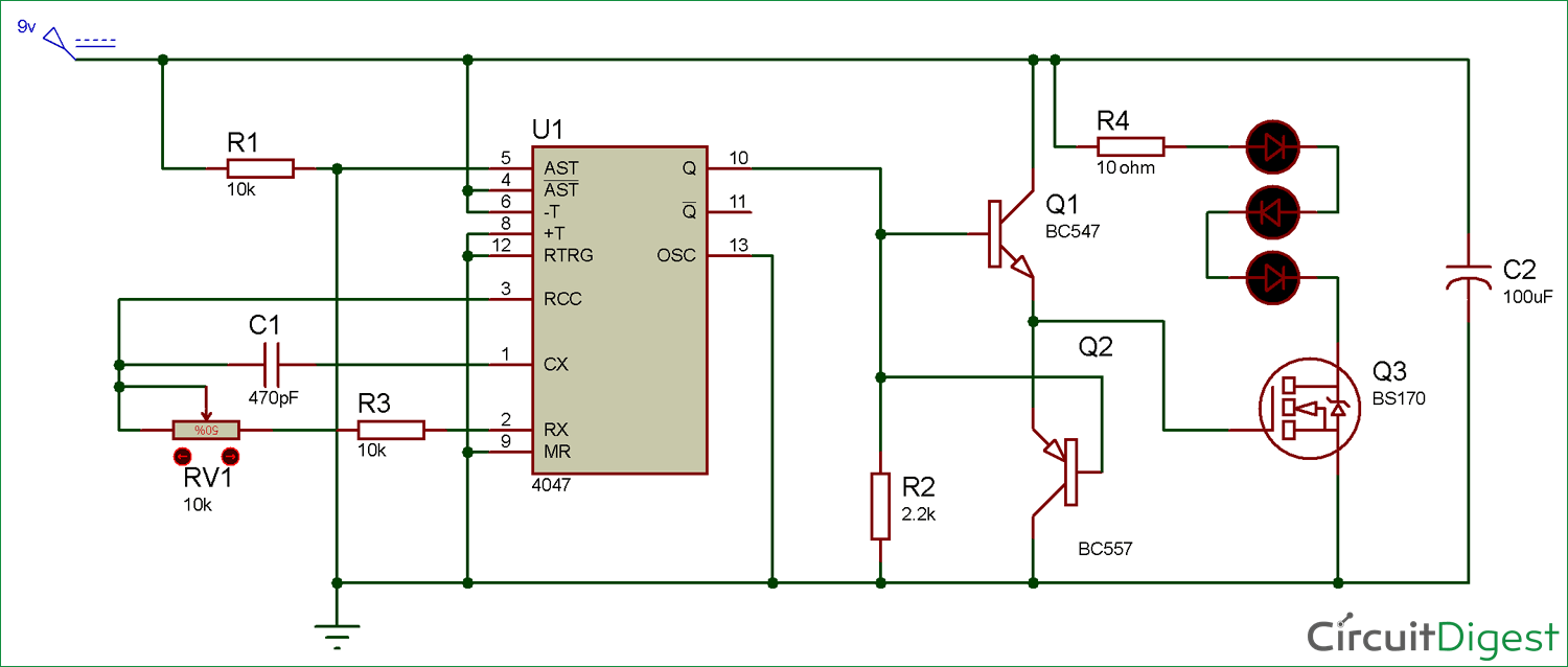 Long Range IR Transmitter Circuit diagram