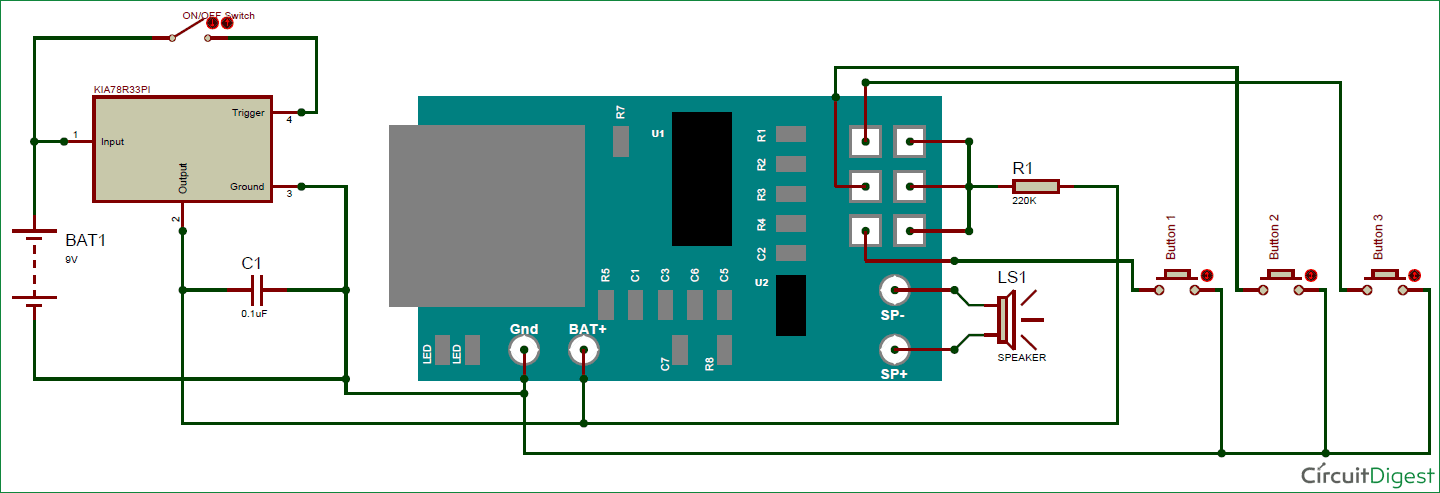 MP3 music player circuit diagram