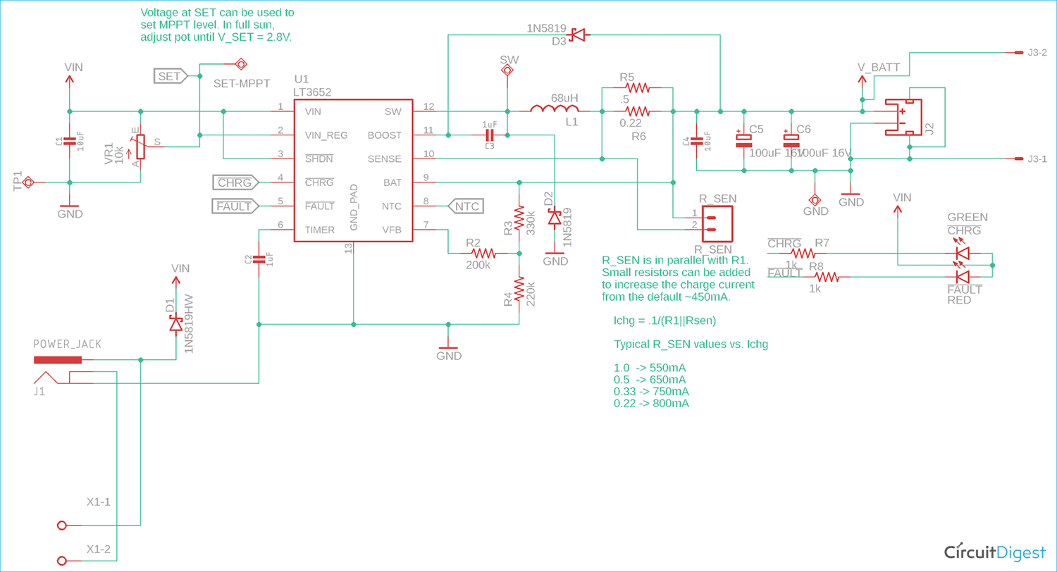 MPPT Solar Charger Circuit Diagram