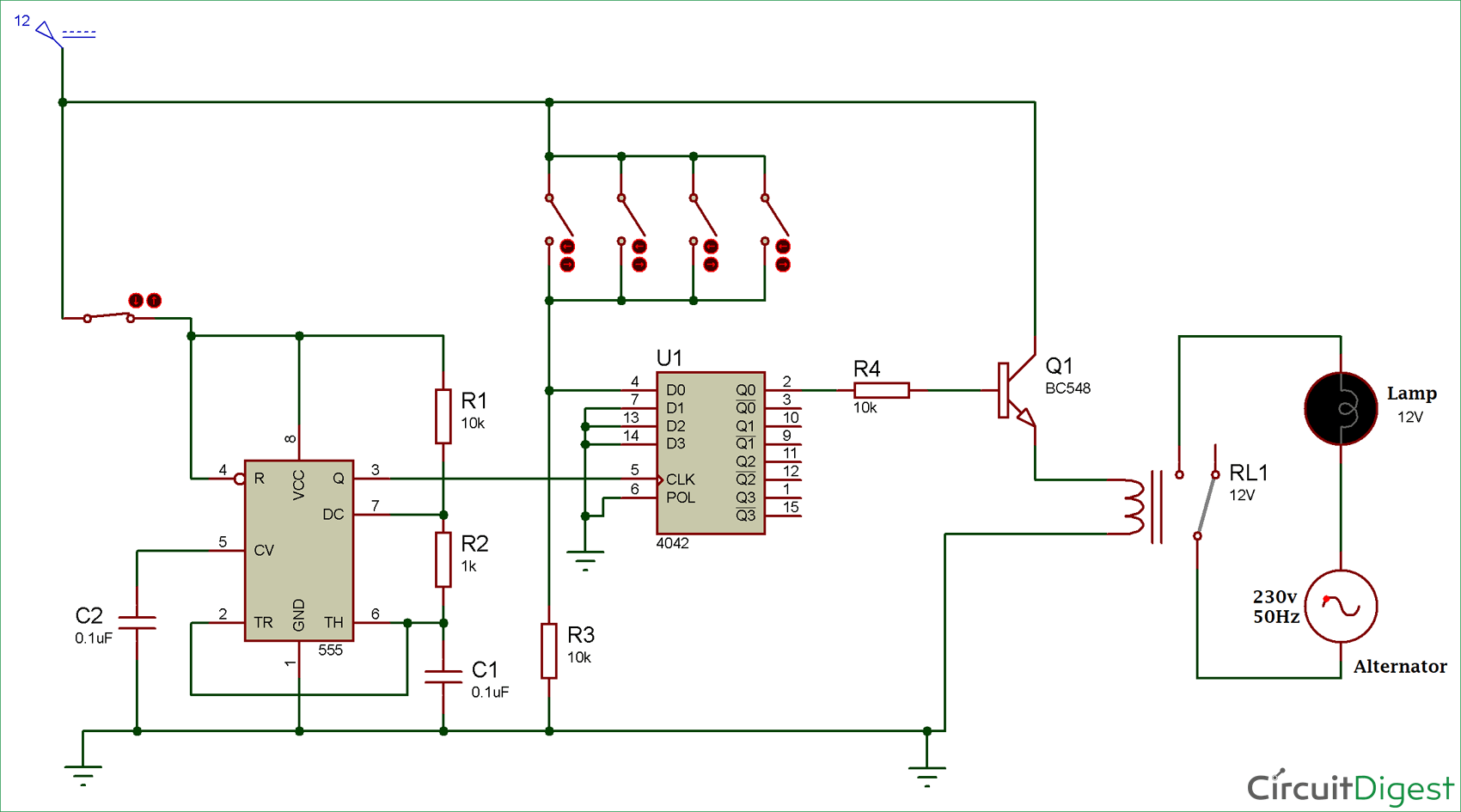 Multi-Way Switch Circuit Diagram