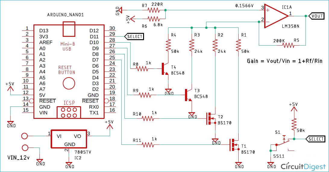 Programmable Gain Amplifier Circuit Diagram