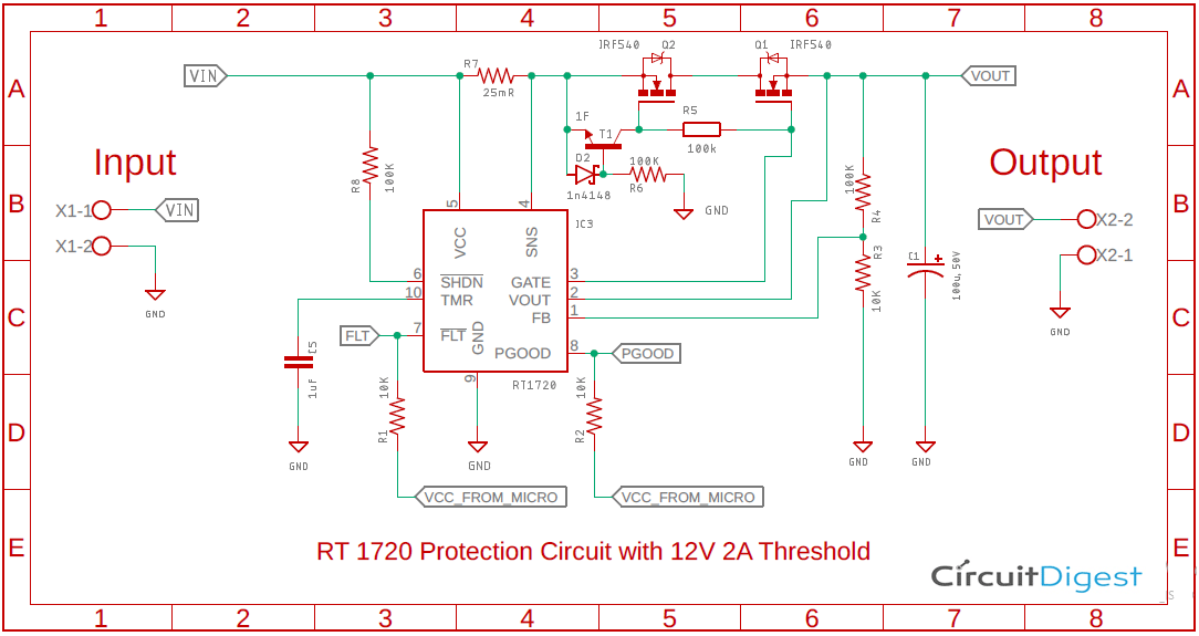 RT1720 Protection Circuit Diagram