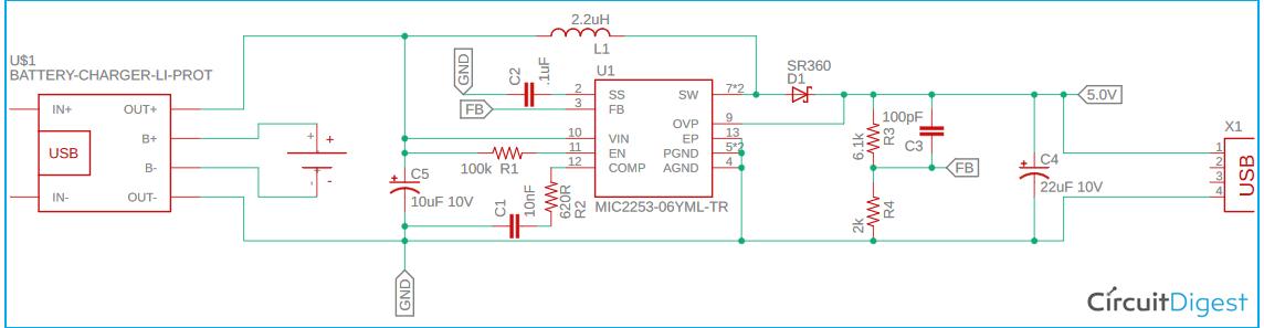 Raspberry Pi UPS Circuit Diagram