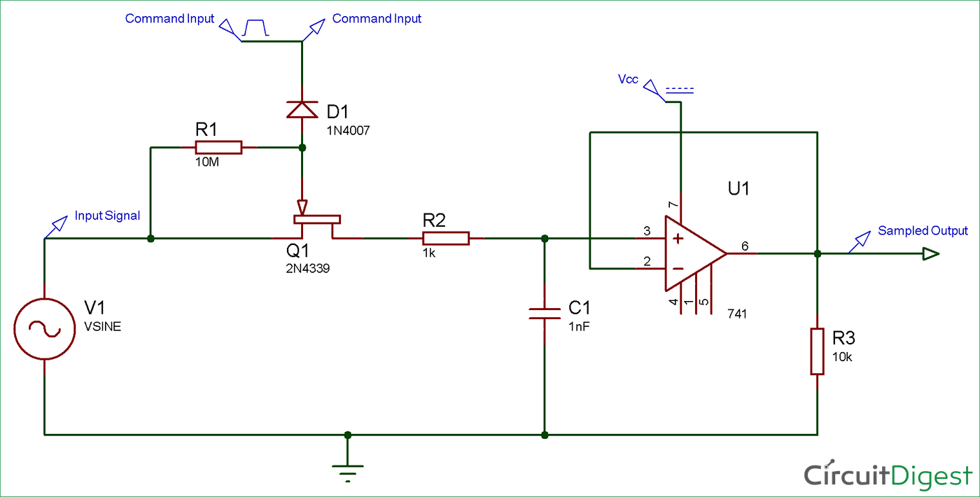 Sample and Hold Circuit Diagram