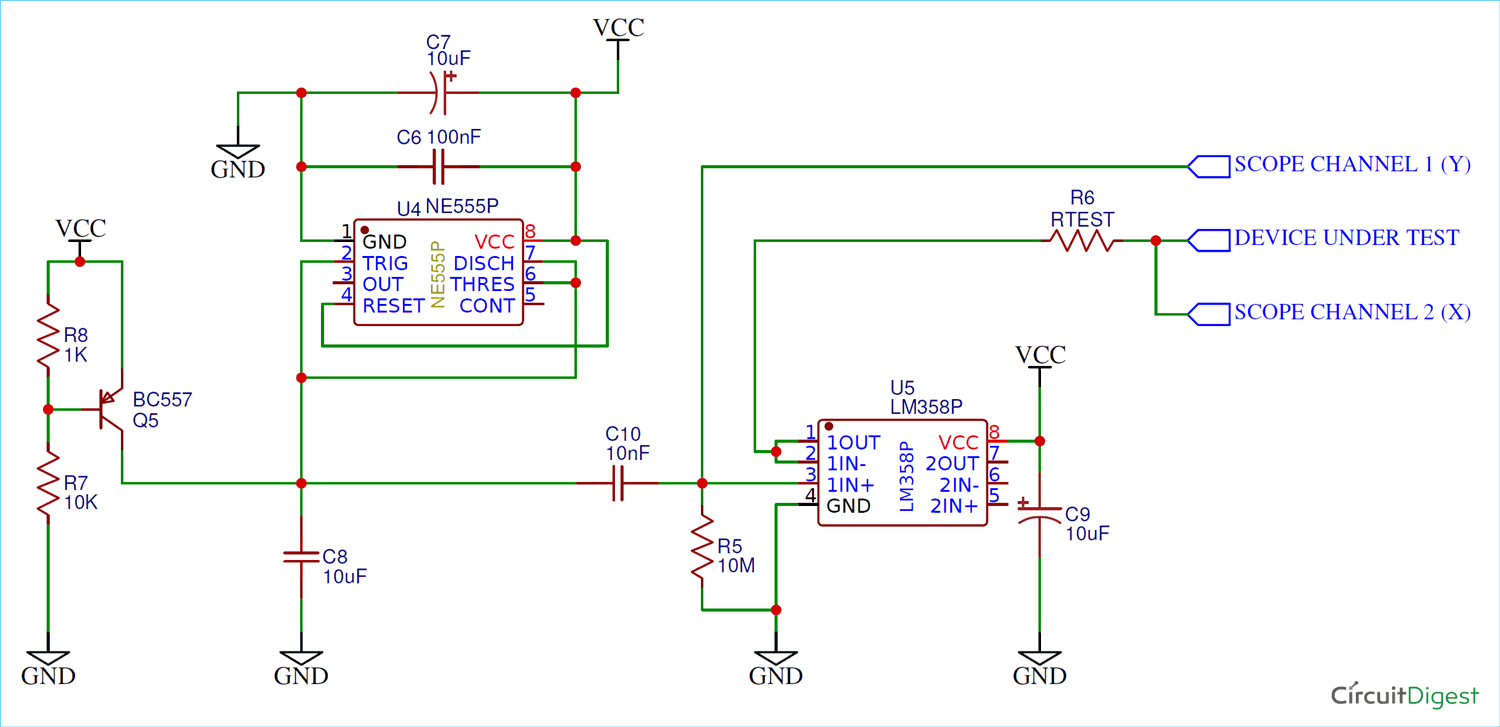 Simple Curve Tracer Circuit  Tracing The Curve For