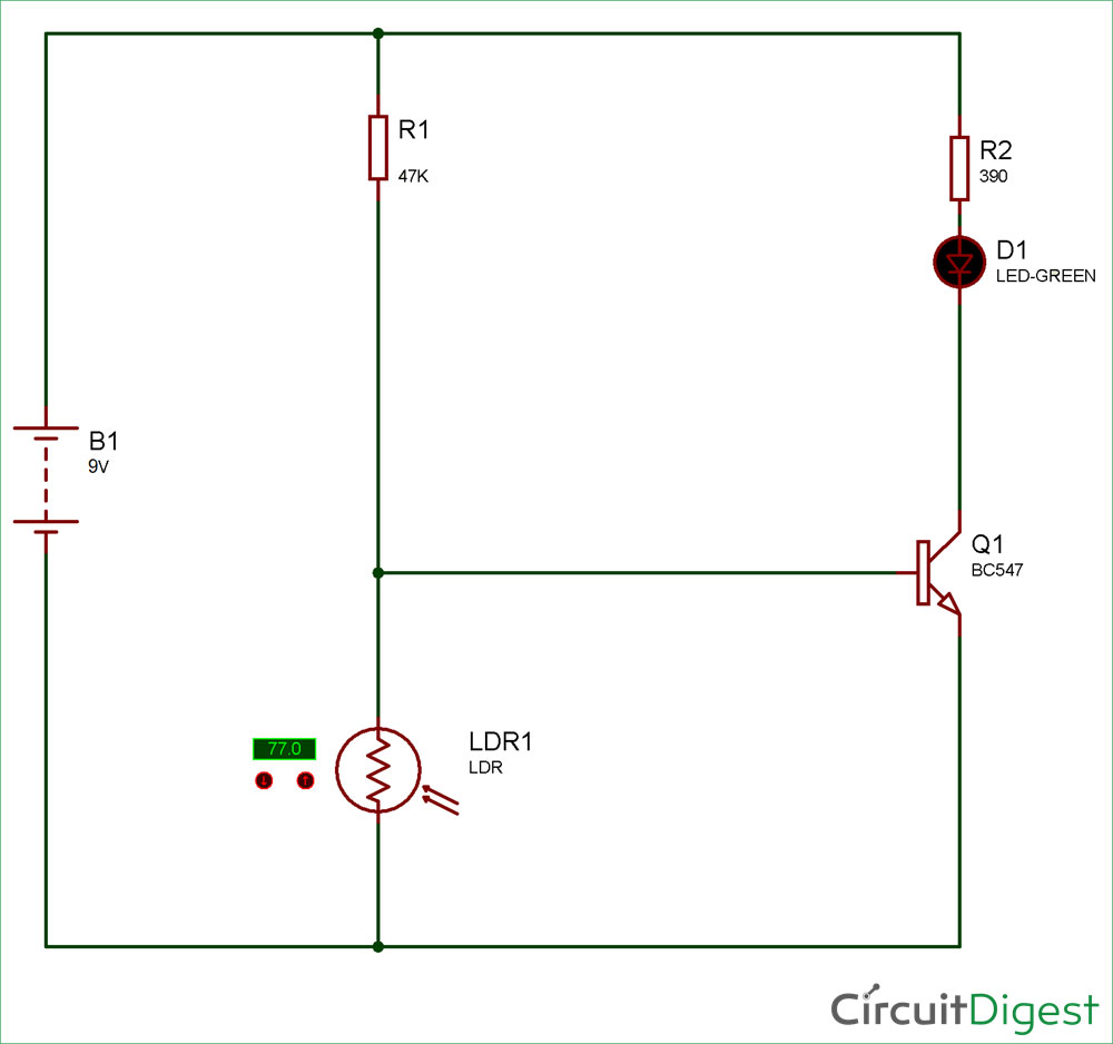 Simple Keyhole Lighting Device Circuit Diagram
