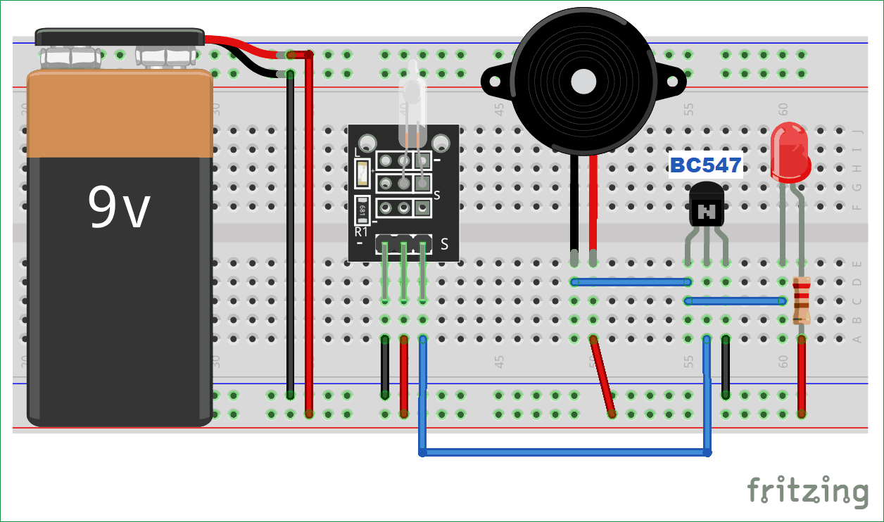 Simple Tilt Sensor Switch Circuit