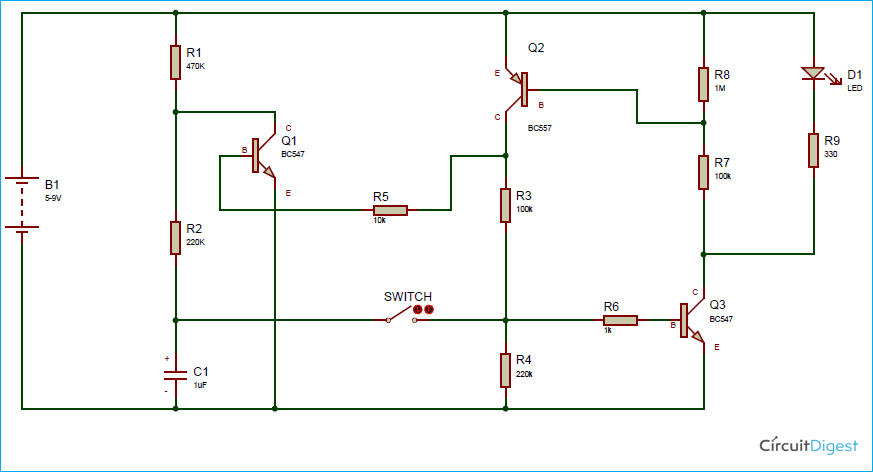 Soft Latching Power Switch Circuit Diagram