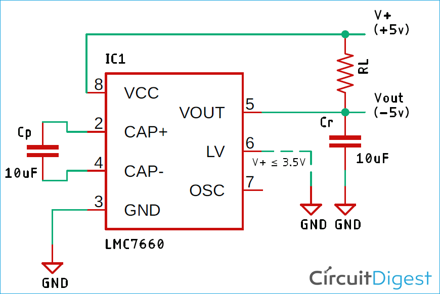 Switched Capacitor Voltage Converter Circuit Diagram