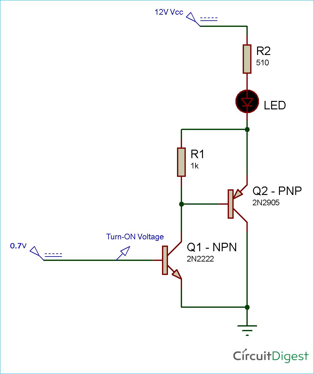 Sziklai Transistor Pair Circuit Diagram