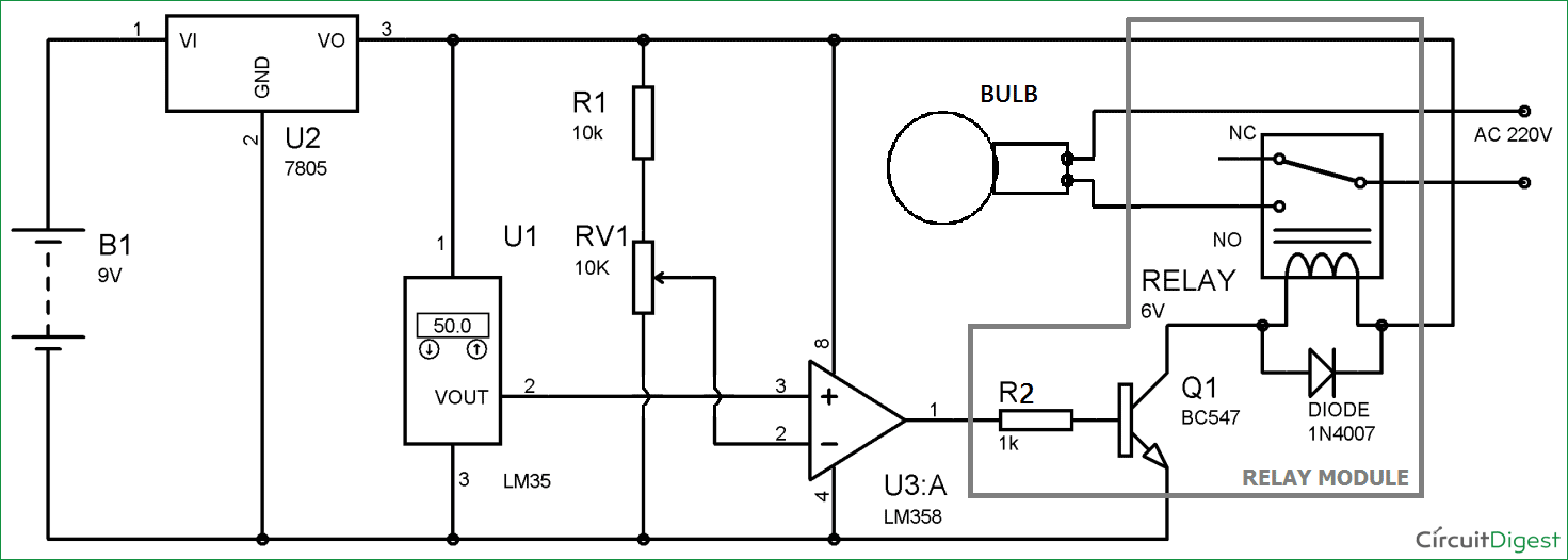 Temperature-controlled-automatic-light-switch-circuit