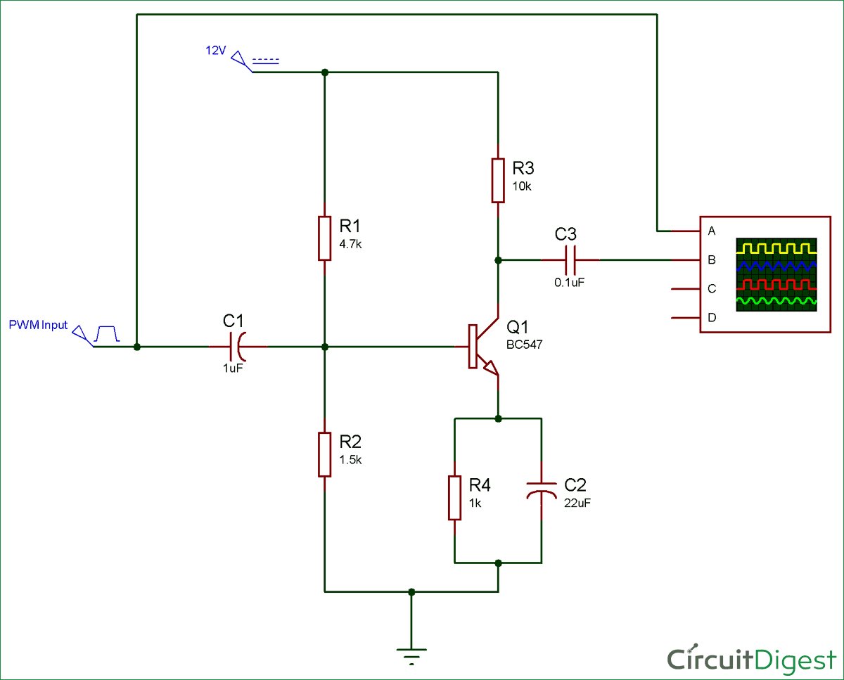 Transistor Amplifier circuit diagram
