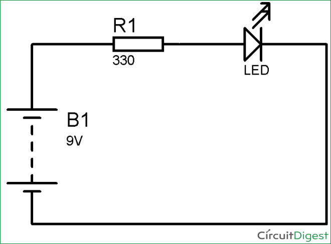 simple led circuit diagram rh circuitdigest com circuit diagram elements circuit diagram light bulb