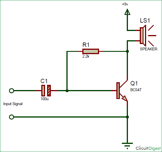 simple preamplifier circuit diagram for mobile aux output