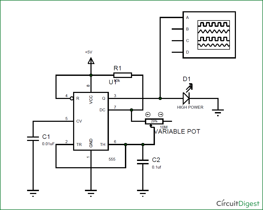 Led Strobe Light Circuit Diagram Simple Blinking