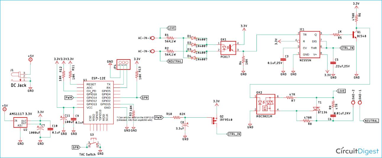 AC Fan Regulator Control Circuit