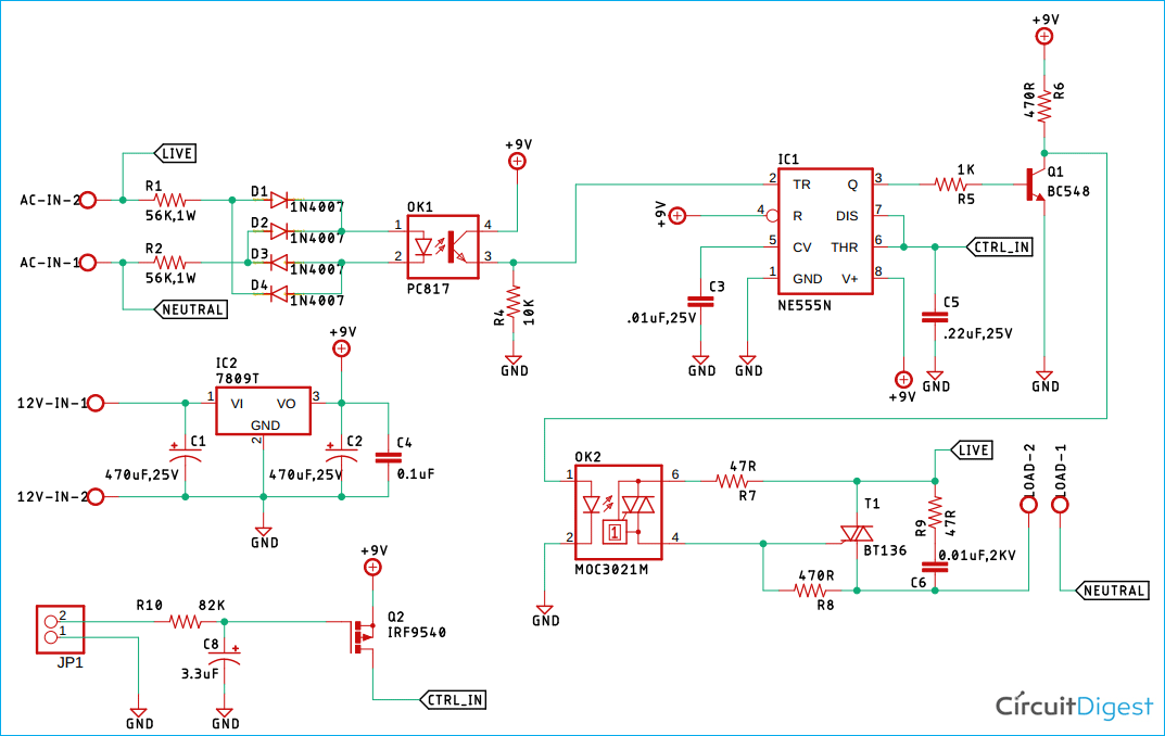 AC Phase Angle Control Circuit Diagram