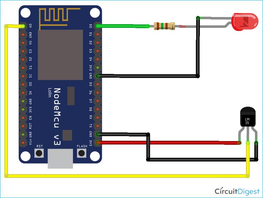 AJAX based Webserver Circuit Diagram