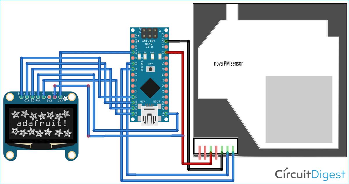 Air Quality Analyzer Circuit Diagram