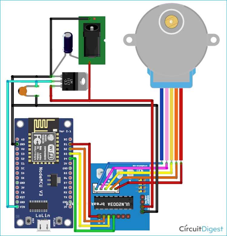 Arduino Blinds Control Circuit Diagram