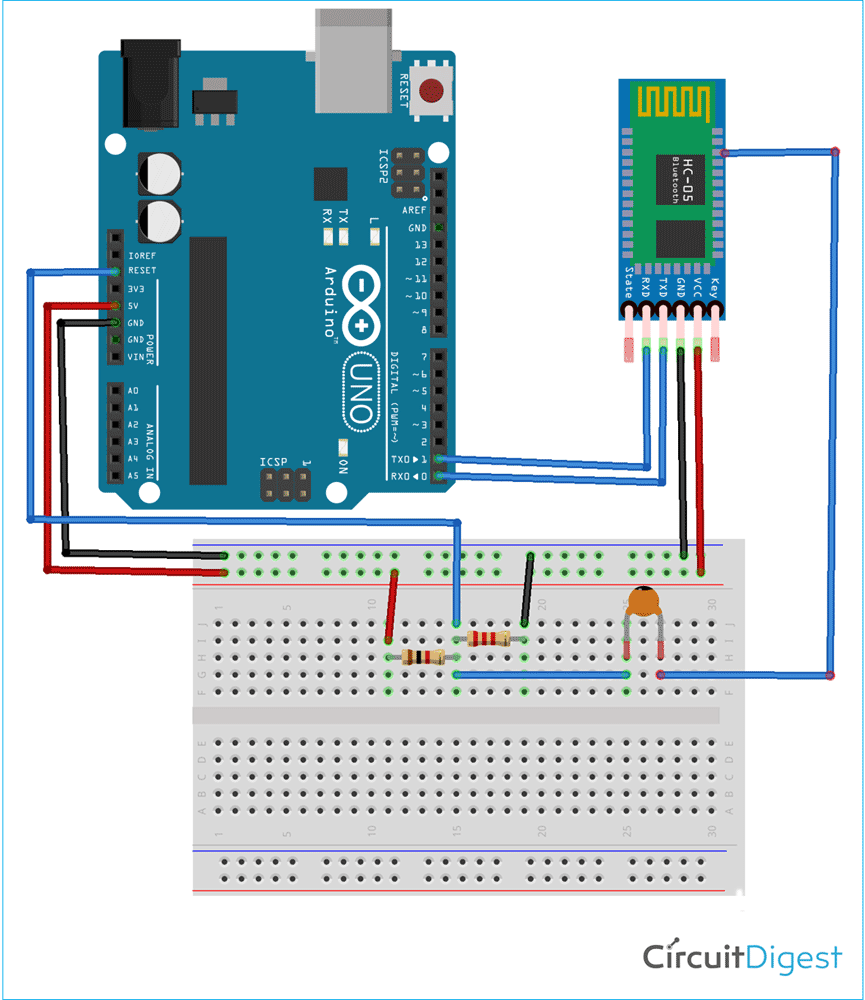 Arduino Bluetooth Circuit Diagram