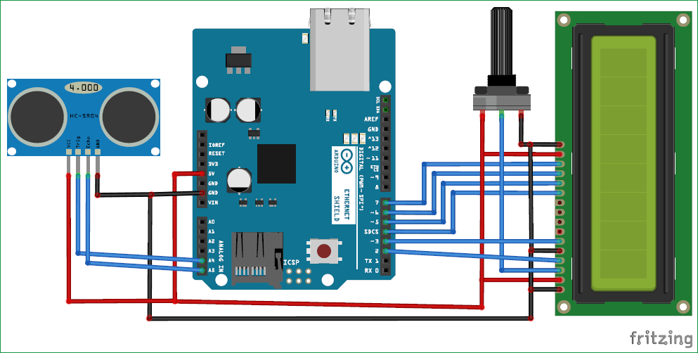 Distance Measurement using Arduino Ultrasonic Sensor: Code & Circuit