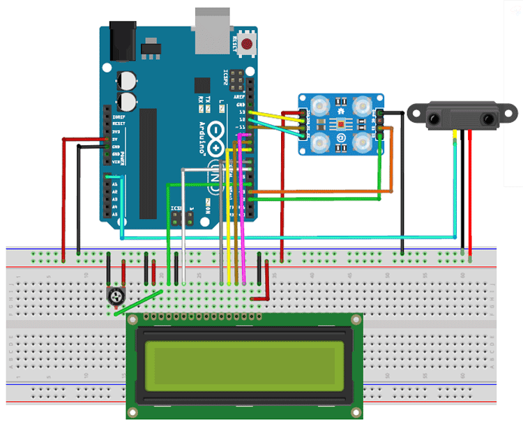 Arduino Currency Counter Circuit Diagram