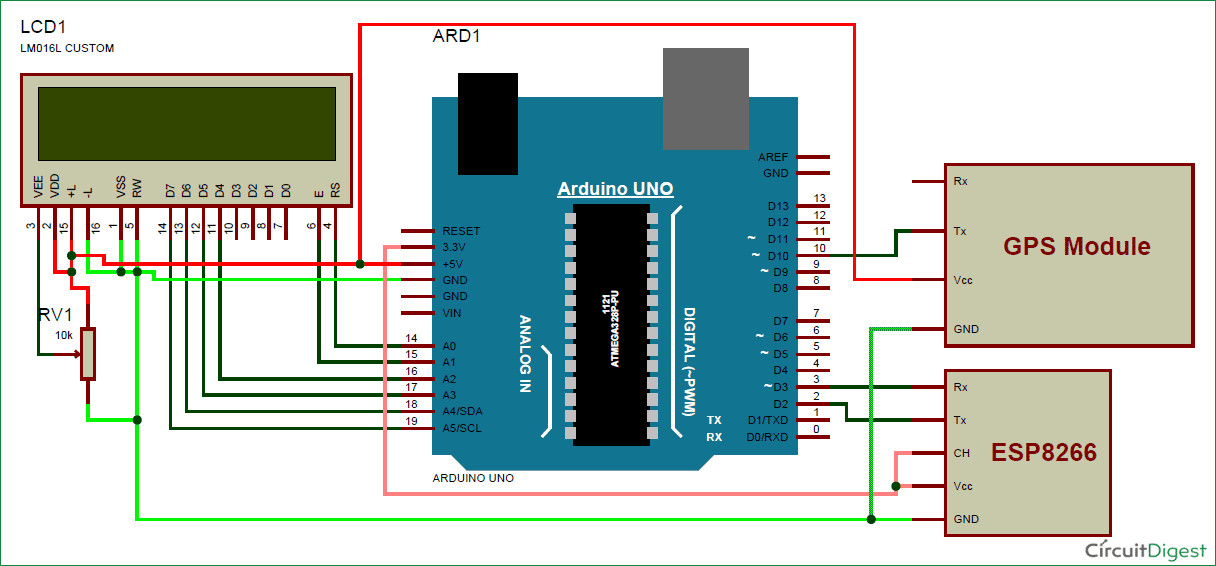 Arduino Vehicle Tracker Using Google Maps  Gps And Esp8266 Wifi Module